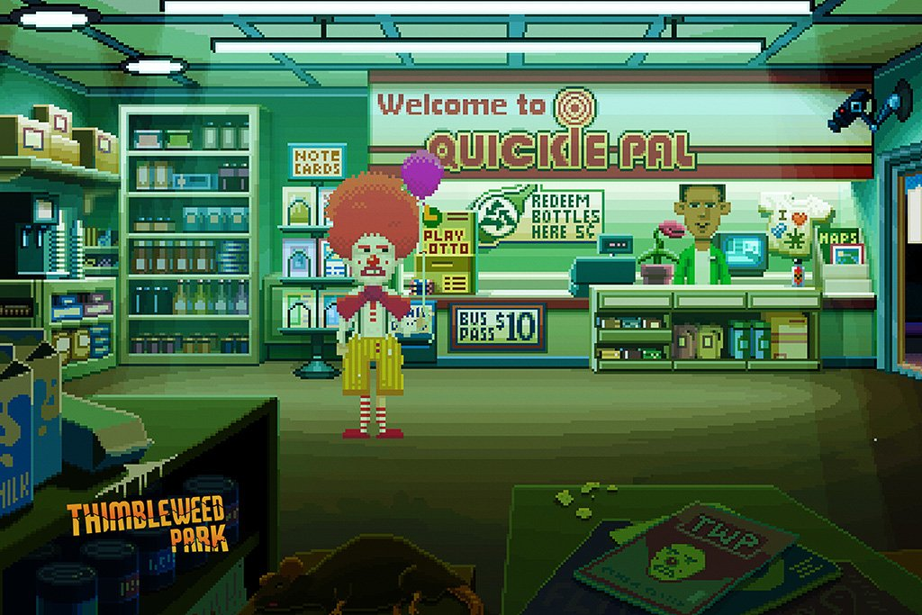 Thimbleweed Park 2017 Poster