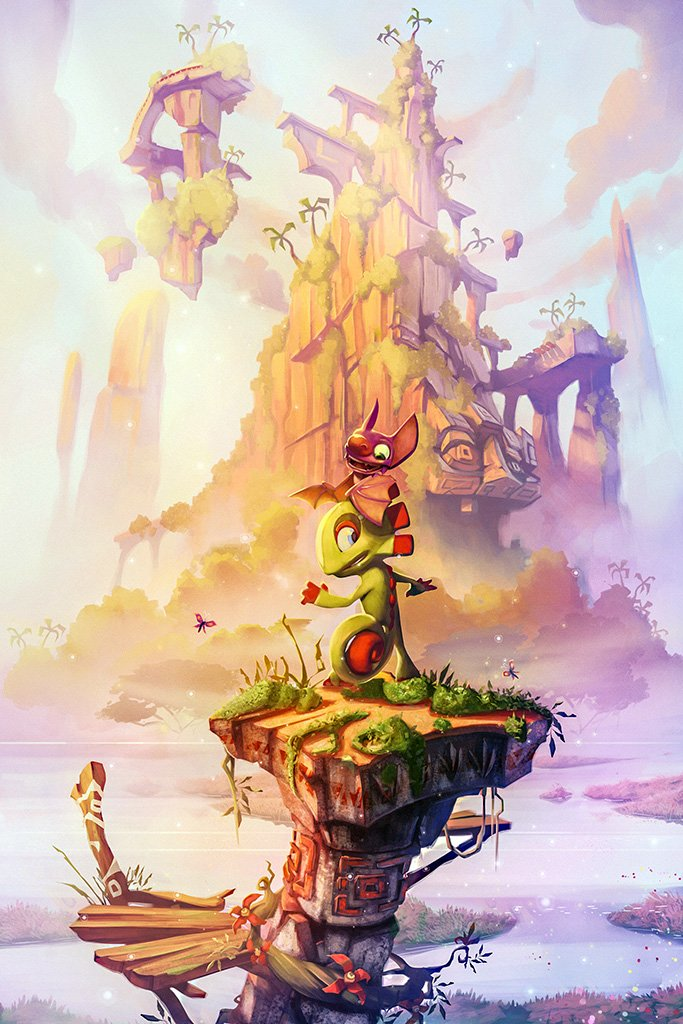 Yooka Laylee Video Game Poster