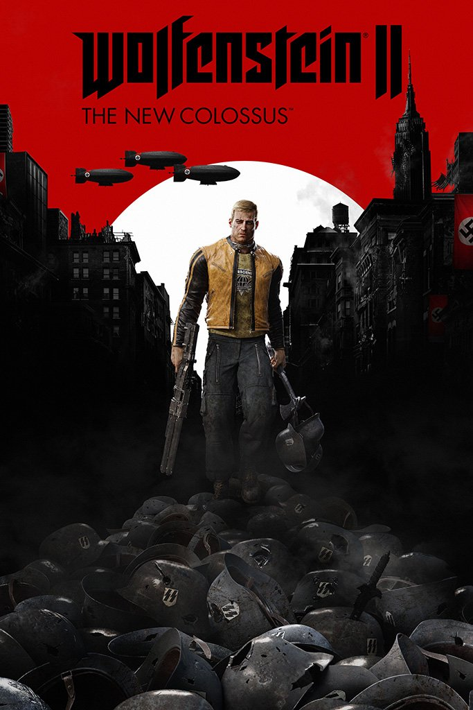Wolfenstein II The New Colossus 2017 Game Poster