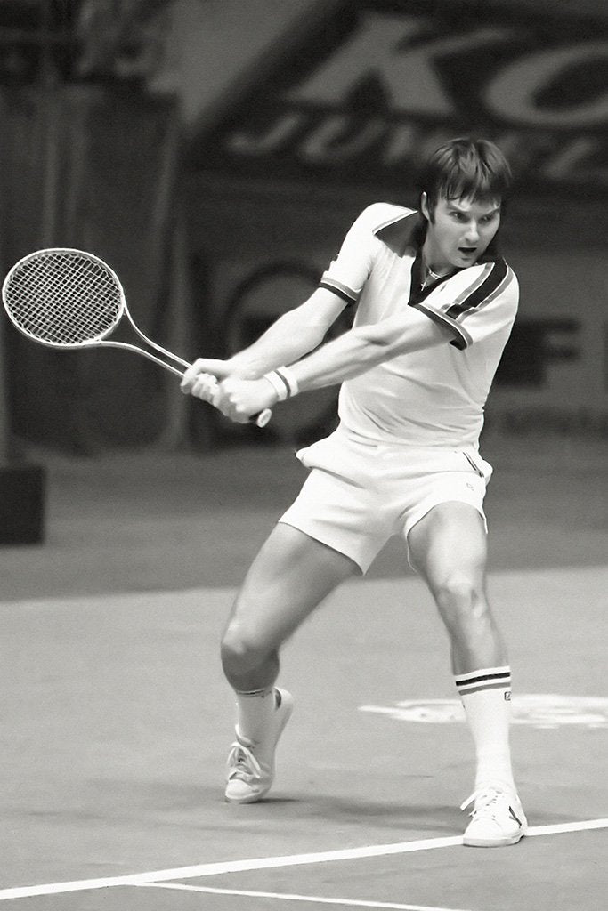 Jimmy Connors Black and White Poster