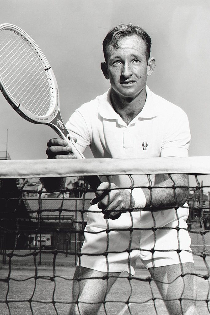 Rod Laver Black and White Poster