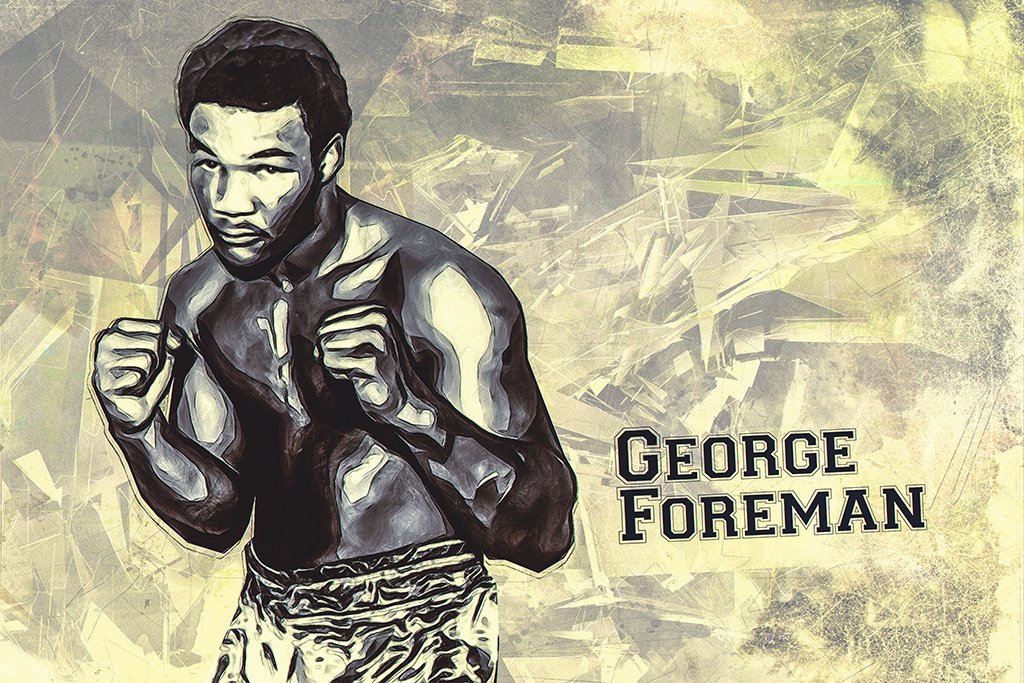 George Foreman Art Poster