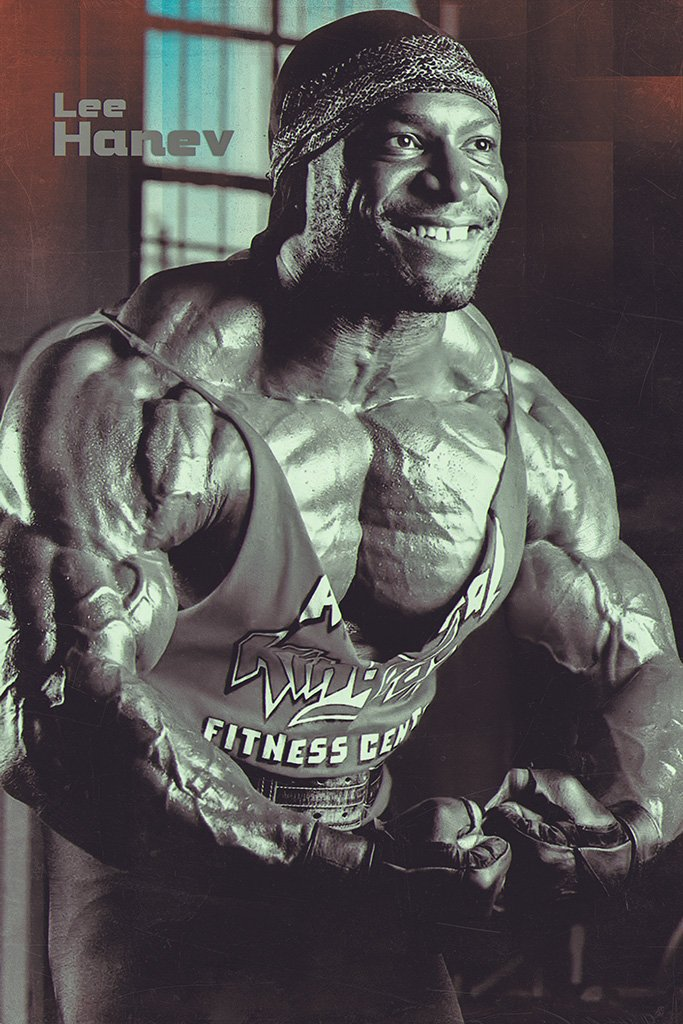 Lee Haney Black and White Poster