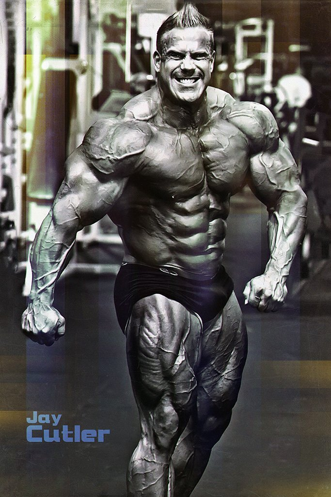 Jay Cutler Black and White Poster