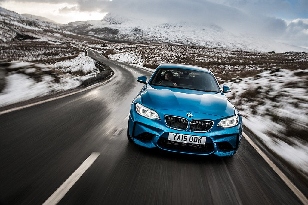 BMW M2 Blue Poster