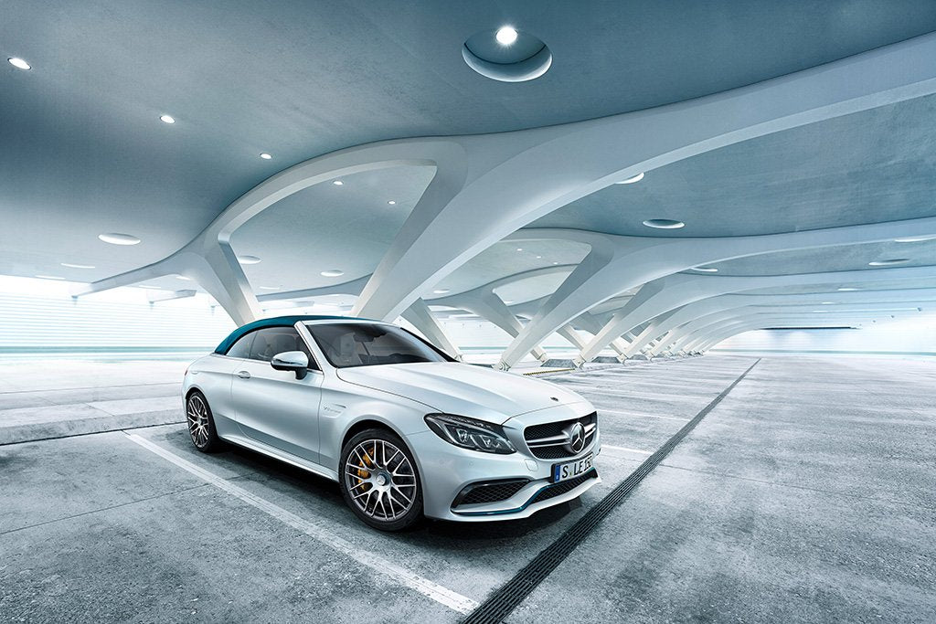 Mercedes-AMG C63 Coupe White Poster