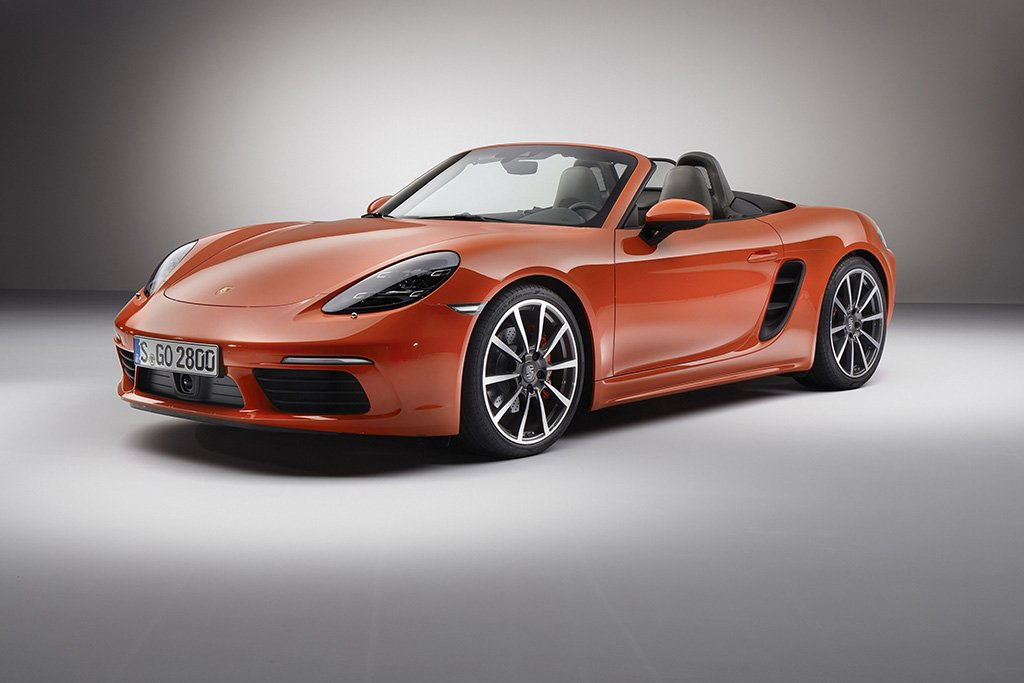 Porsche Cayman Boxster Orange Poster