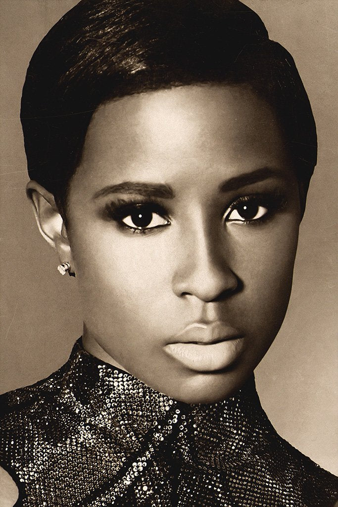 Dej Loaf Black and White Poster