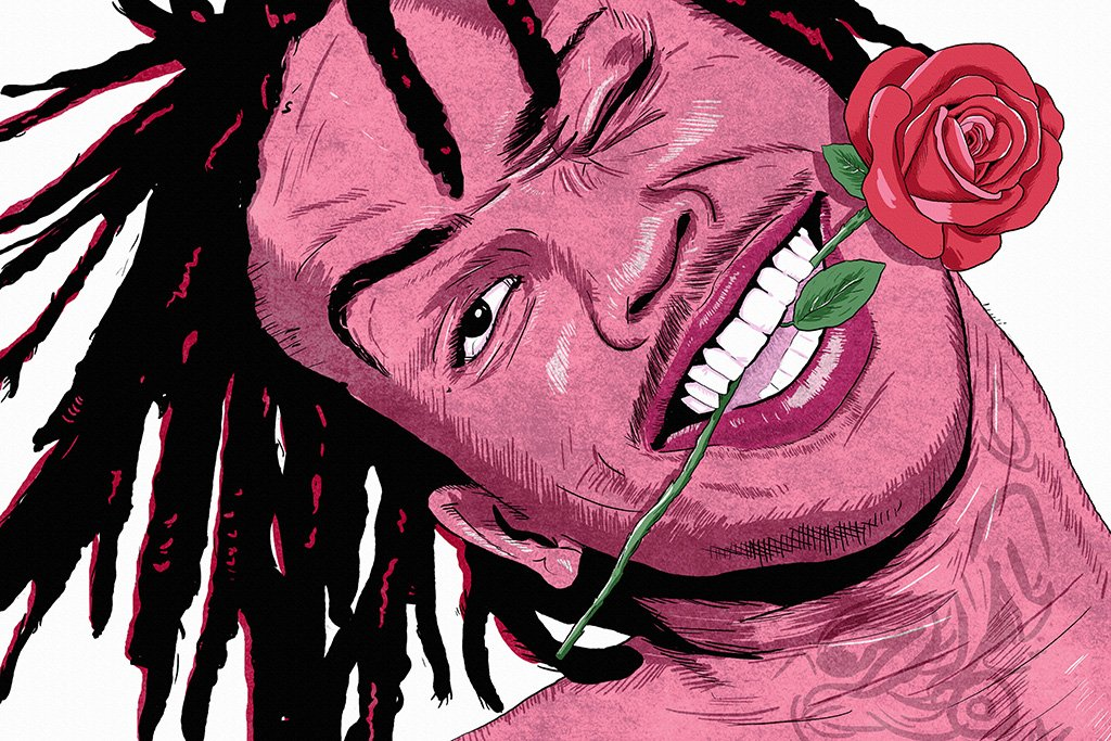Chief Keef Rose Art Poster