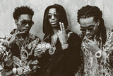 Migos Black and White Hip Hop Poster