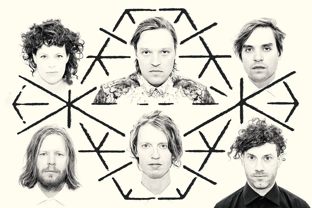 Arcade Fire Black and White Poster