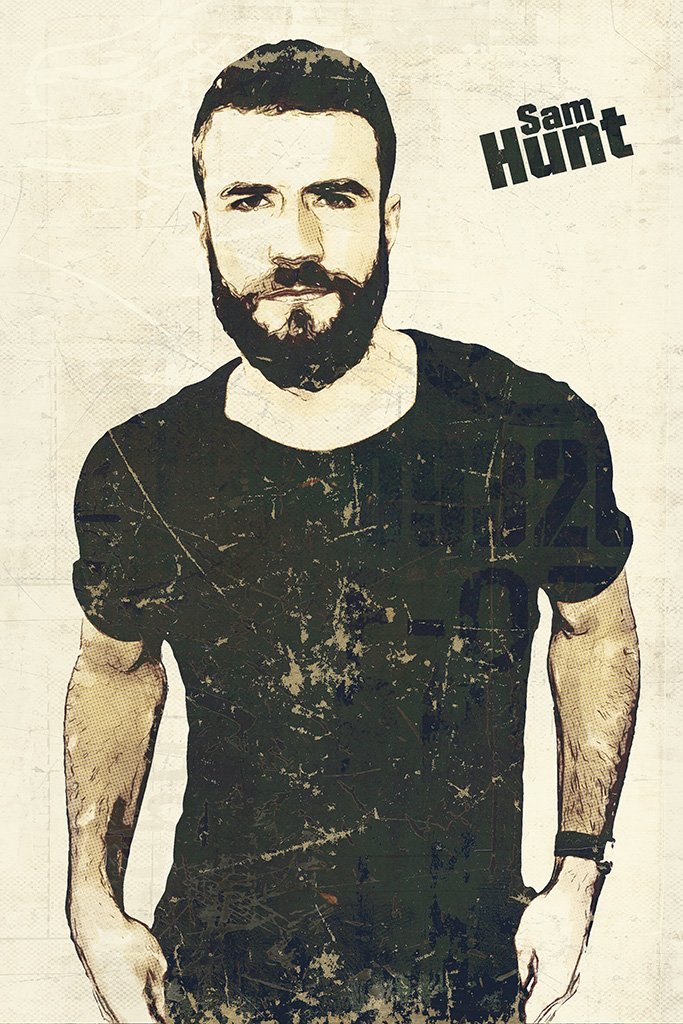 Sam Hunt Fan Art Poster