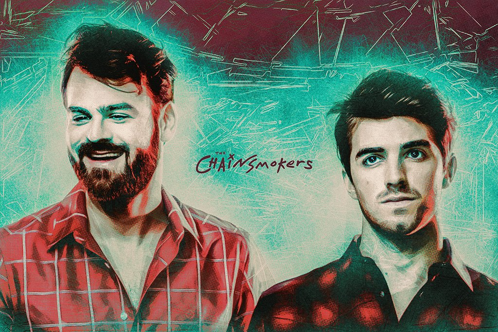 The Chainsmokers Art Poster
