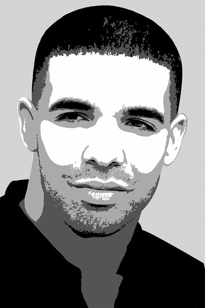 Drake Black and White Art Poster