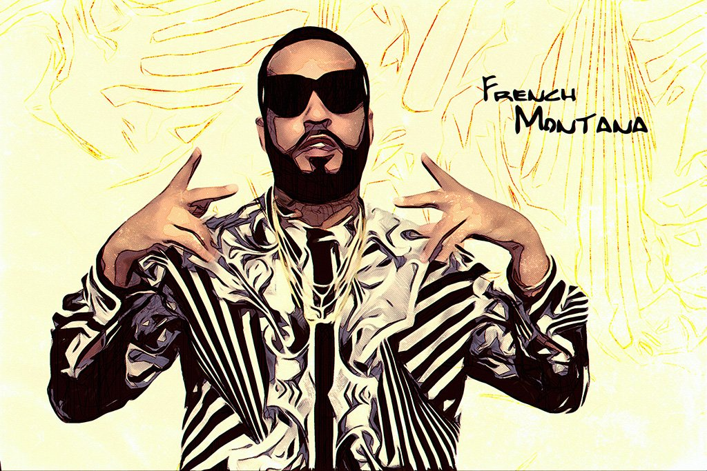 French Montana Fan Art Poster