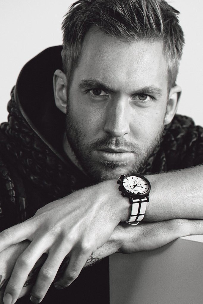 Calvin Harris Black and White Poster