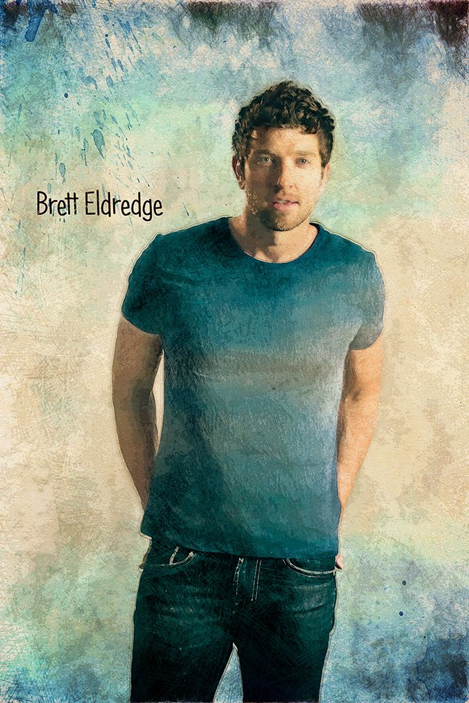 Brett Eldredge Fan Art Poster