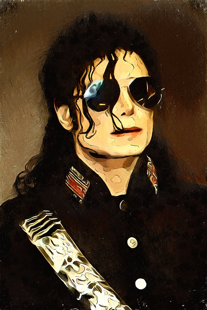 Michael Jackson Portrait Fan Art Poster