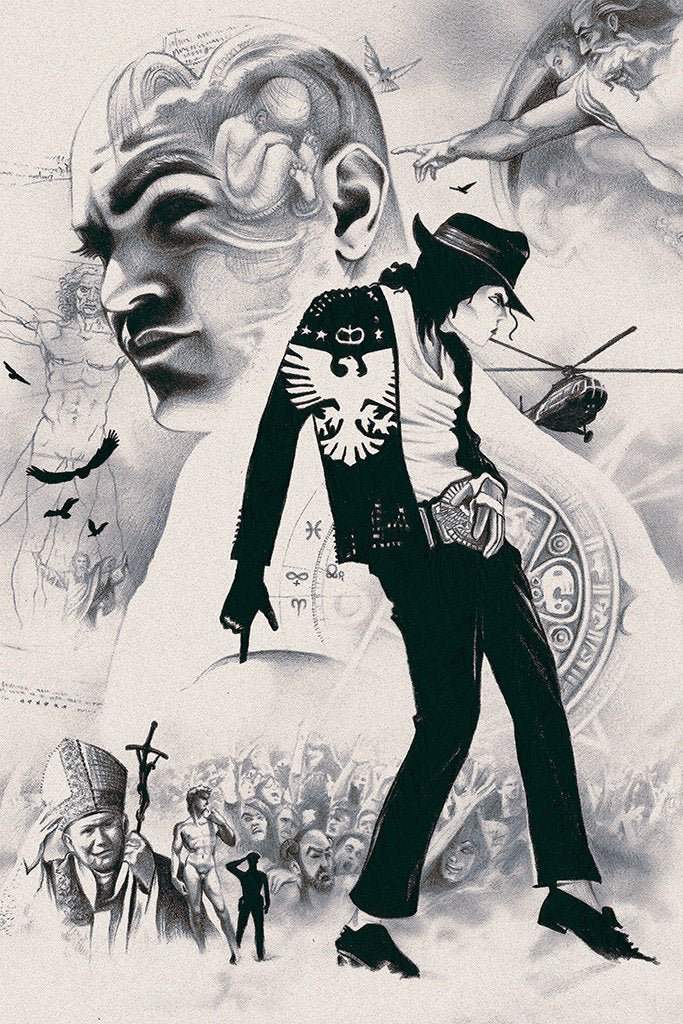 Michael Jackson Fan Art Black and White Poster