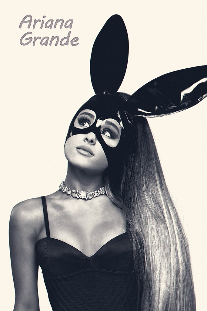 Ariana Grande with Mask Poster