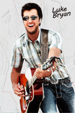 Luke Bryan Fan Art Poster