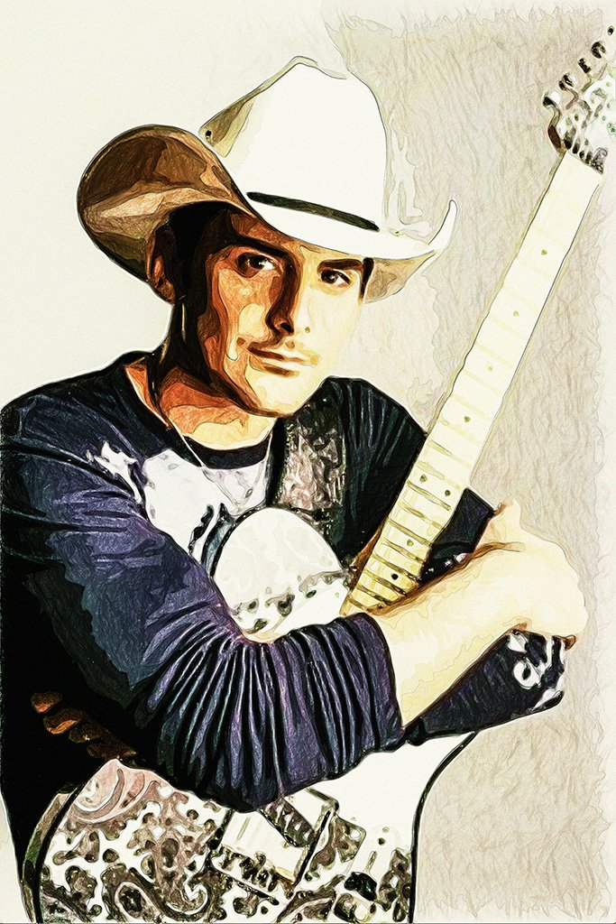 Brad Paisley Fan Art Poster