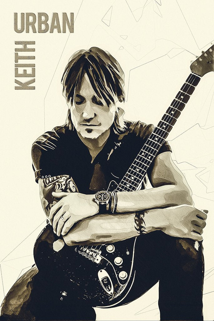 Keith Urban Fan Art Poster