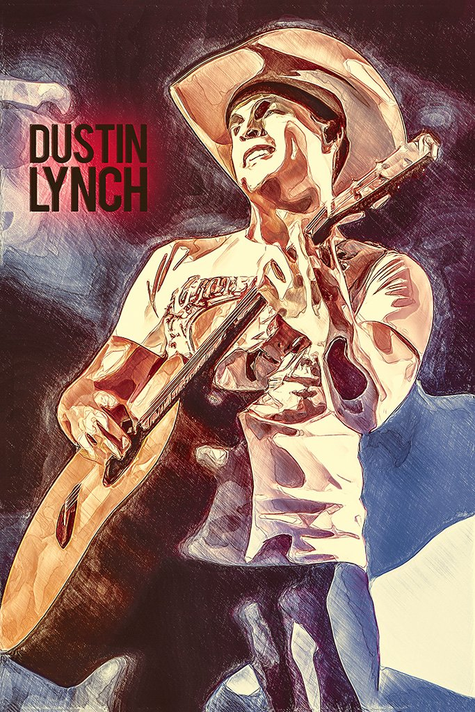 Dustin Lynch Fan Art Poster