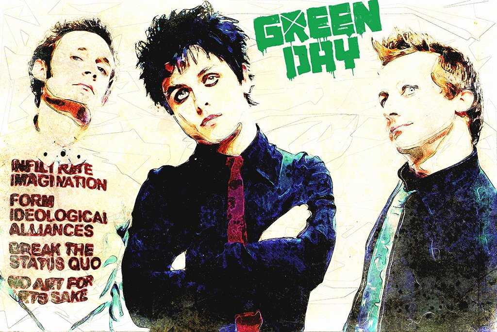 Green Day Fan Art Music Poster