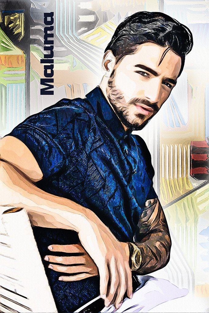 Maluma Fan Art Poster