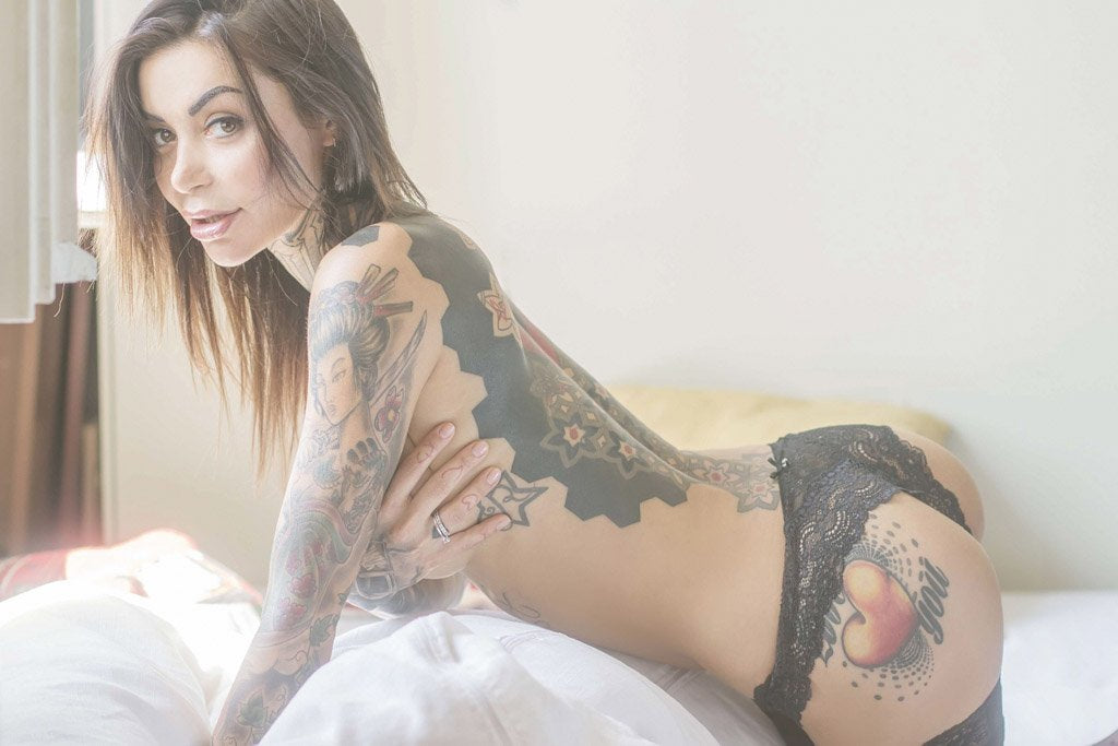 Hot Tattooed Girl (Set 1, 6/10) Poster