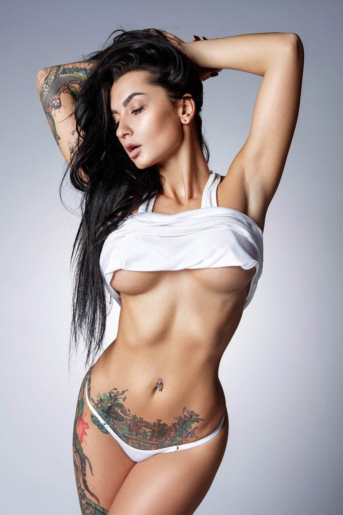 Angelica Anderson Hot Tattooed Girl Poster