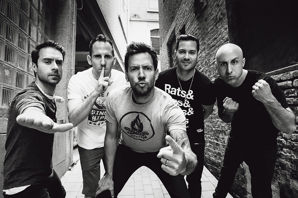 Simple Plan Pop Punk Band Black and White Poster