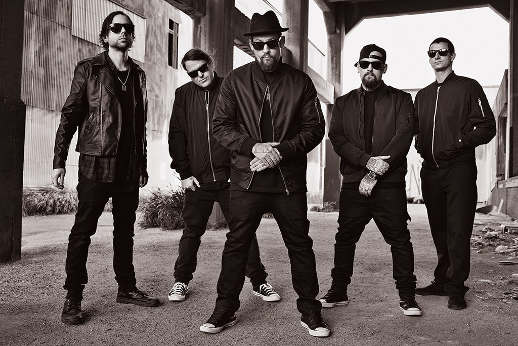 Good Charlotte Black and White Poster