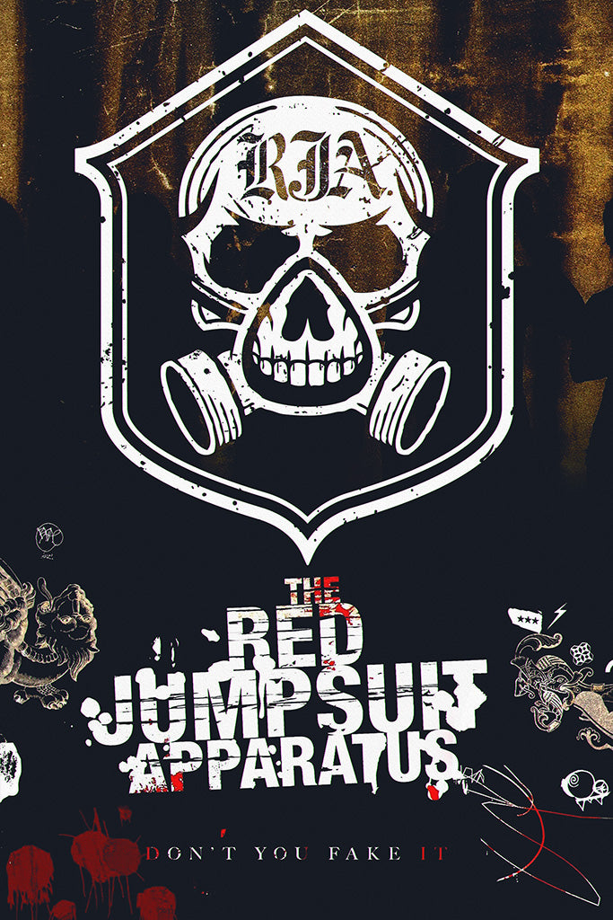 The Red Jumpsuit Apparatus Pop Punk Band Poster