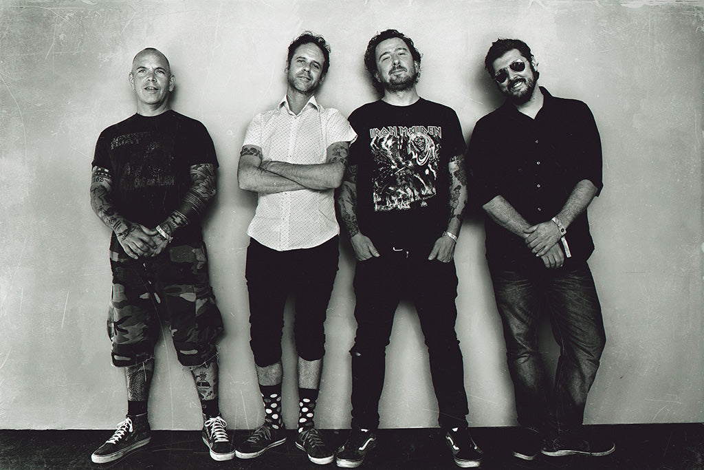 The Bouncing Souls Pop Punk Band Black and White Poster