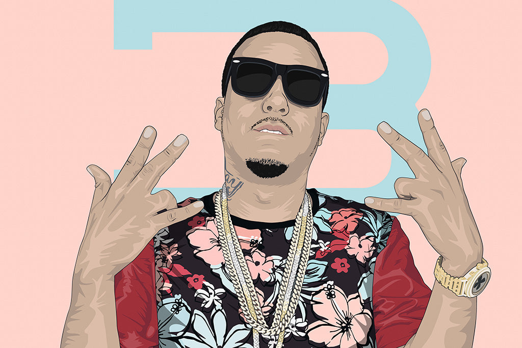 French Montana Hip Hop Fan Art Poster