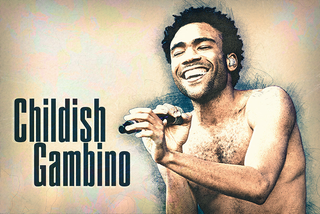 Childish Gambino Rapper Fan Art Poster