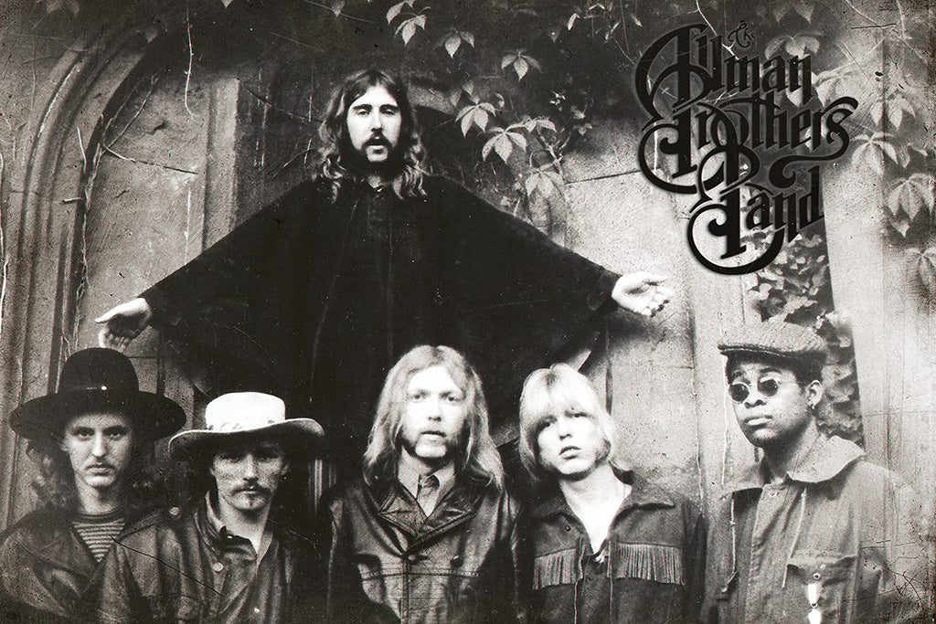 The Allman Brothers Band Black and White Poster