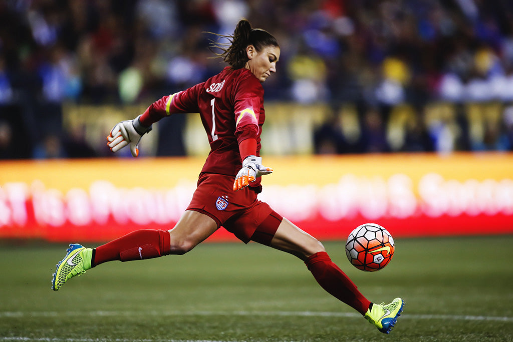 Hope Solo Playing Poster