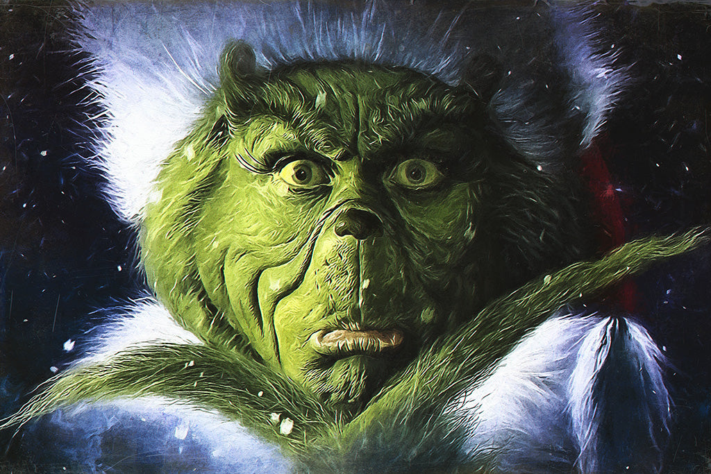 Dr. Seuss How the Grinch Stole Christmas Face Poster