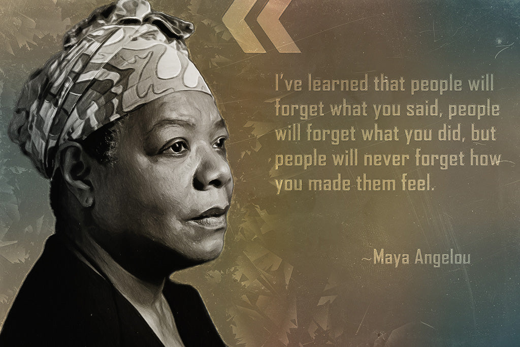 Maya Angelou Quote I've Learned That People Poster