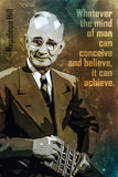 Napoleon Hill Quote Whatever The Mind Poster