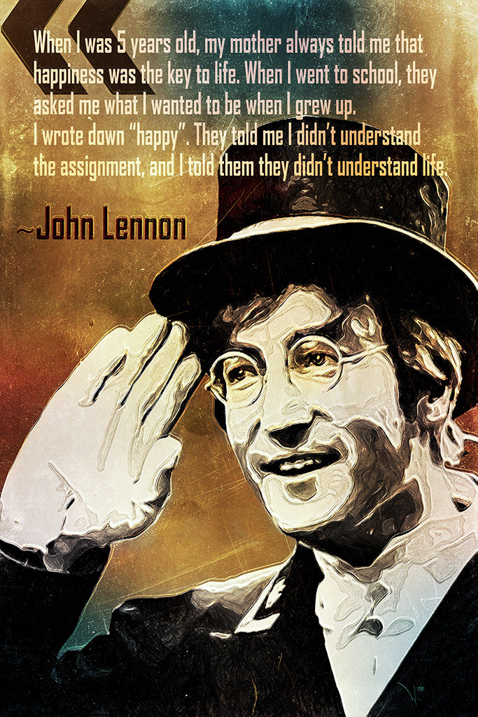 John Lennon Quote When I Was 5 Years Old Poster