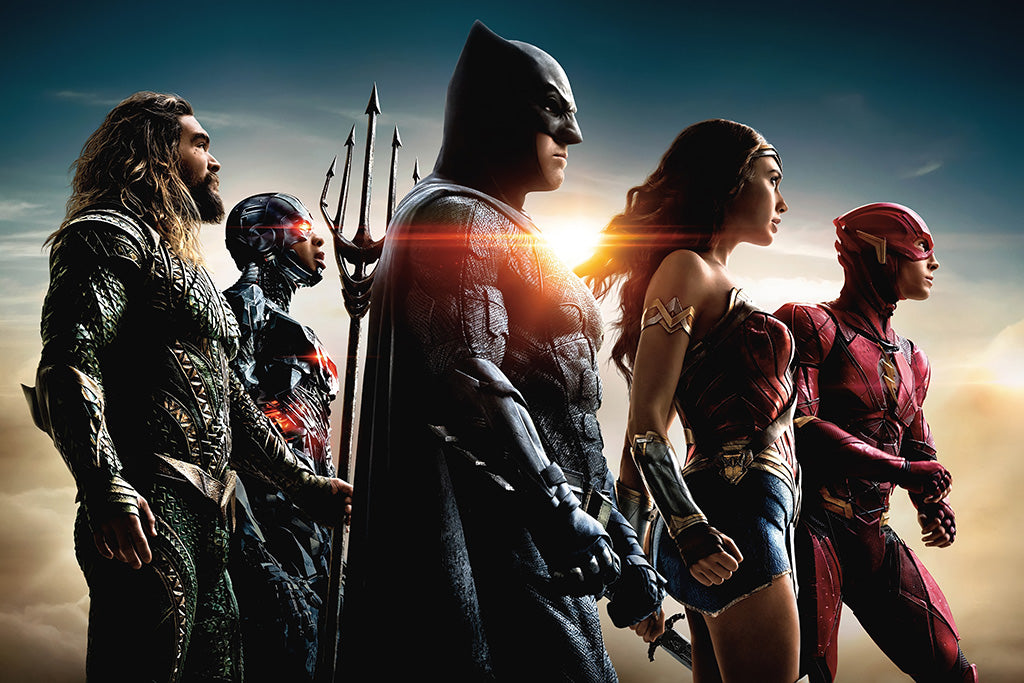 Justice League 2017 Film Characters Poster