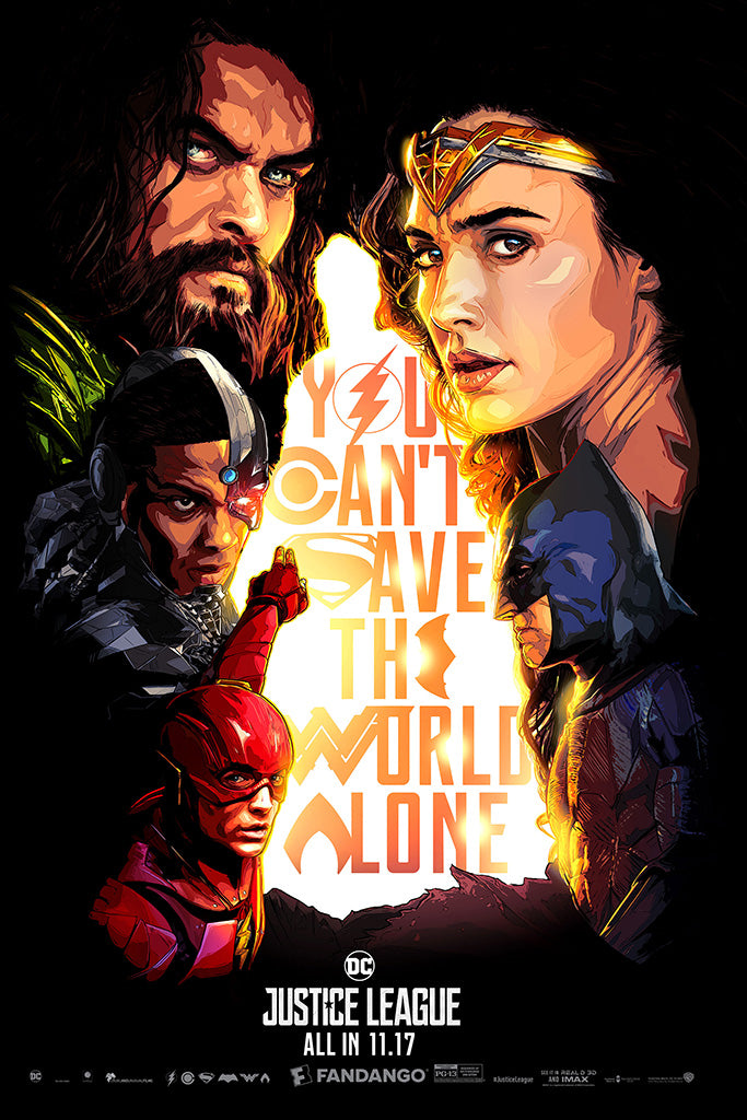 Justice League 2017 Movie Comics Poster