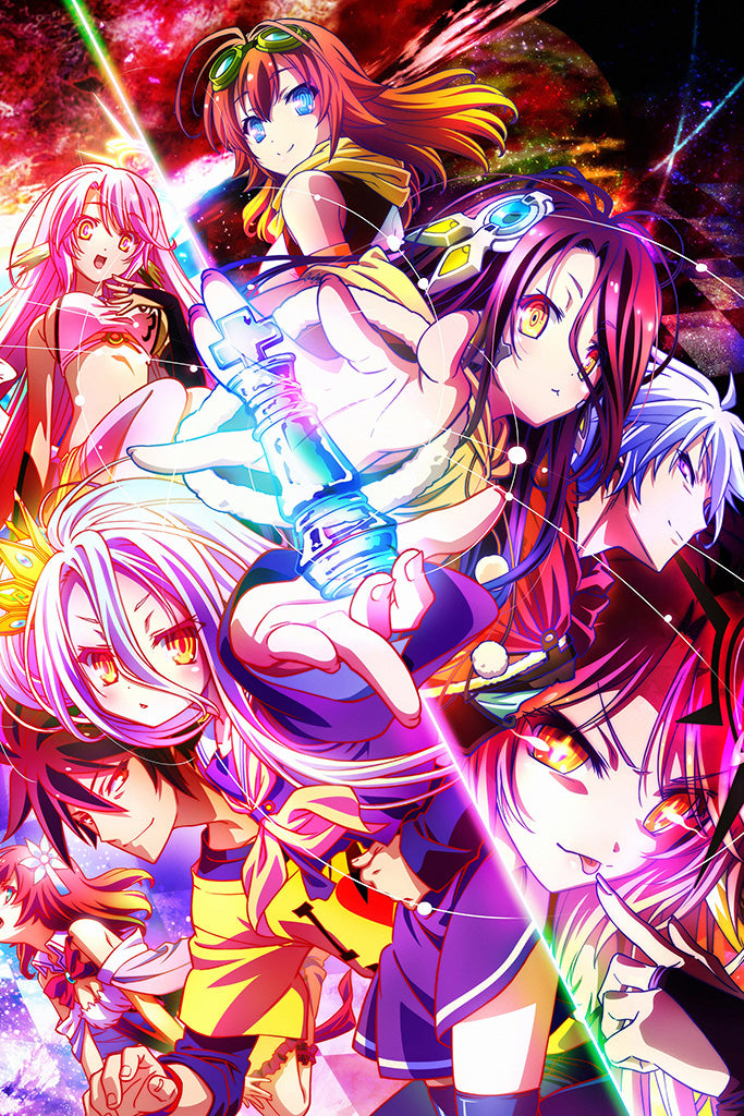 No Game No Life Zero Anime Art Poster