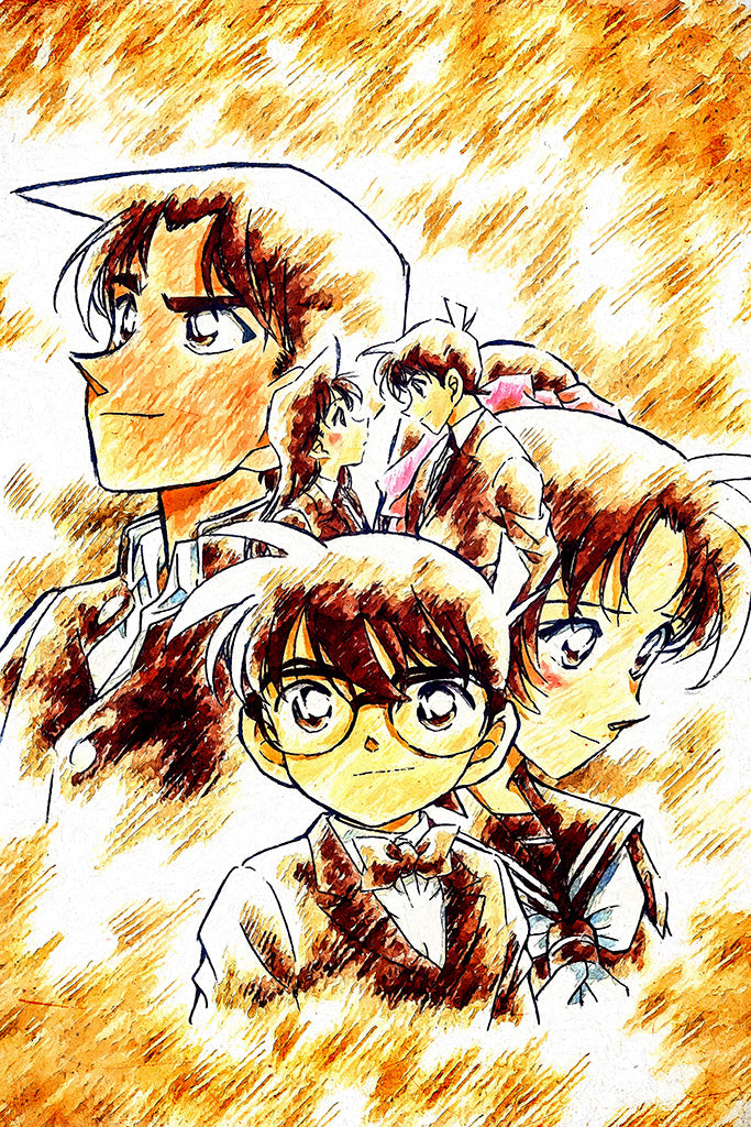 Detective Conan Movie 13 The Raven Chaser Anime Art Poster