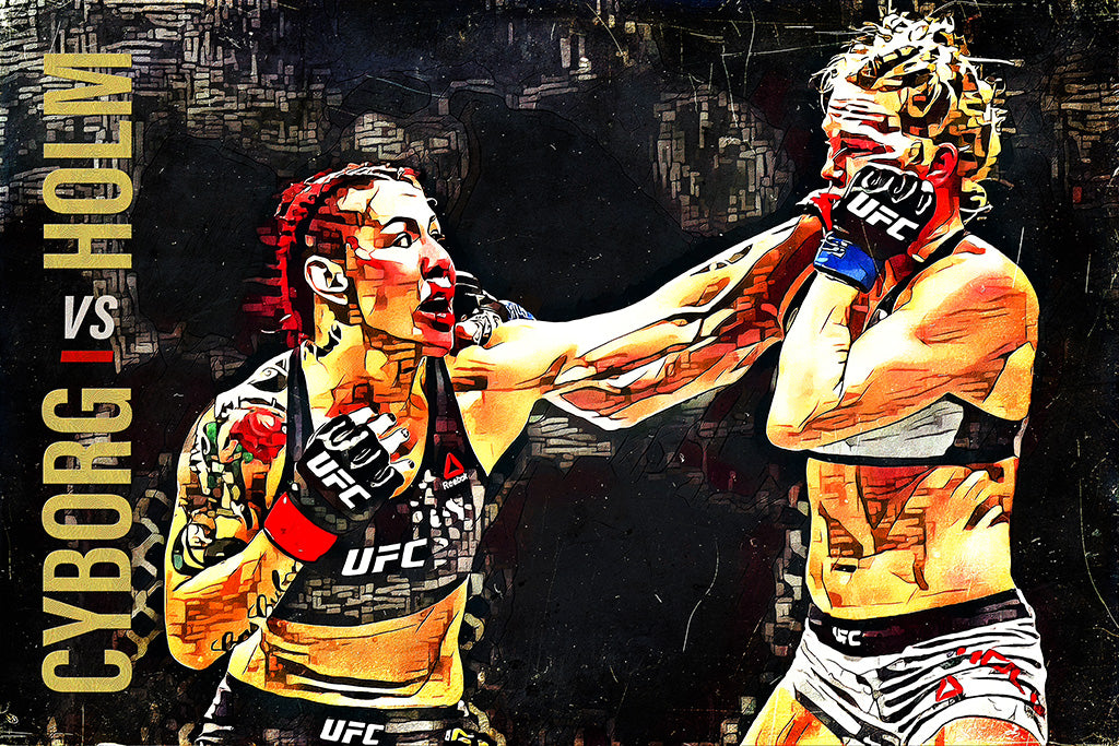 Cris Cyborg vs Holly Holm MMA Sport Art Poster