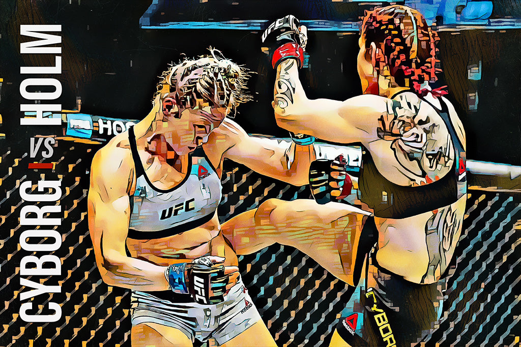 Cris Cyborg vs Holly Holm MMA UFC Sport Art Poster